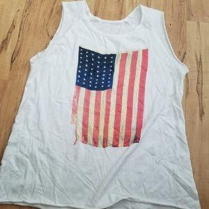 Nationltd American flag tshirt